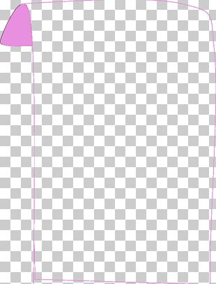 Paper Line Pink M Angle Font PNG
