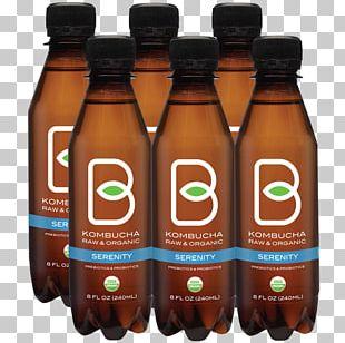 Kombucha Green Tea Probiotic Drink PNG