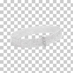 Bracelet Product Design Silver PNG
