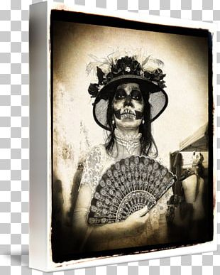 Black And White Frames Death Painting Day Of The Dead PNG