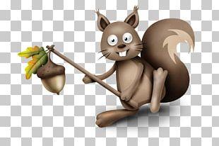 Tree Squirrel Cartoon Drawing PNG