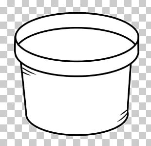 Flowerpot Black And White PNG