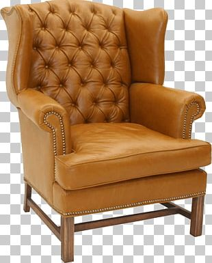 Table Wing Chair Couch Footstool PNG