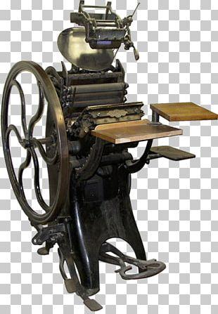 Printing Press Letterpress Printing Platen Machine PNG