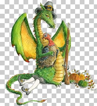 Thanksgiving Dinner Dragon Pilgrim Legendary Creature PNG