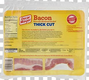 Bacon Meat Oscar Mayer Animal Fat Ingredient PNG