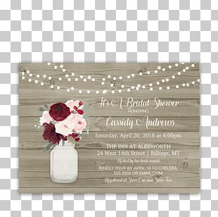 Wedding Invitation Flower Bridal Shower Mason Jar PNG