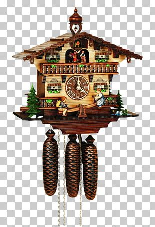 Cuckoo Clock Black Forest Movement Musical Clock PNG