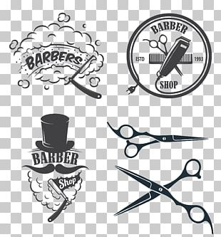 Barber Hairdresser Logo Beauty Parlour PNG