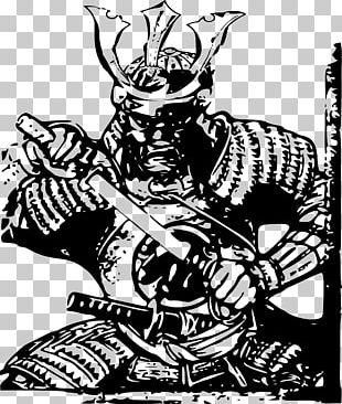 Japan Samurai Drawing PNG