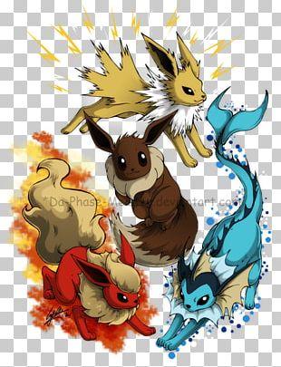 Eevee Vaporeon Pokémon Drawing Jolteon PNG