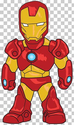 Iron Man Captain America Chibi Drawing PNG