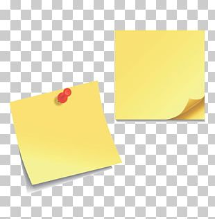 Post-it Note Paper Sticker Icon PNG