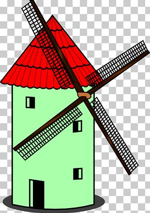 Windmill Cartoon PNG