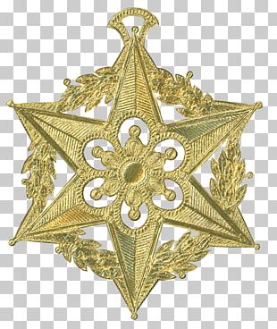 Dresden Paper Christmas Ornament Gold PNG