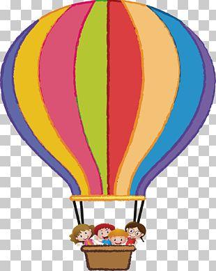 Flight Hot Air Balloon Illustration PNG