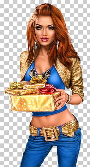 White Christmas Santa Claus Gift Female PNG