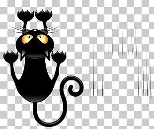 Black Cat Cartoon PNG