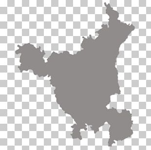 Haryana States And Territories Of India Blank Map PNG
