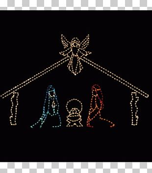 Christmas Lights Lighting Nativity Scene PNG