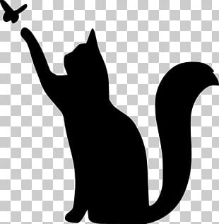 Cat Stencil Drawing Silhouette PNG