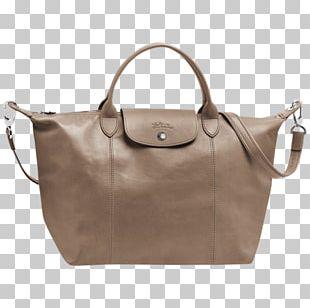 Tote Bag Leather Handbag Longchamp Pliage PNG