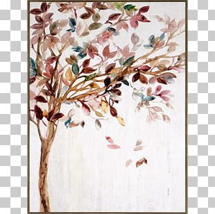 Painting Floral Design Work Of Art Canvas Print PNG
