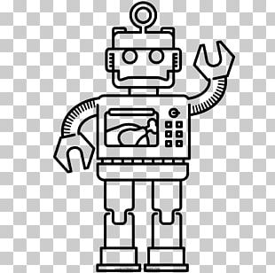 Robot Coloring Book Drawing Automaton PNG