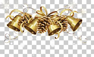 Christmas Gold Bell PNG