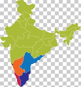 States And Territories Of India Map PNG