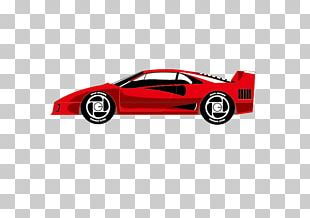 Sports Car Supercar Red PNG