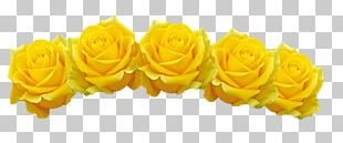 Cut Flowers Crown Wreath Garden Roses PNG