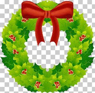 Christmas Tree Santa Claus Holiday Christmas Card PNG