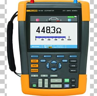 Digital Storage Oscilloscope Fluke Corporation Multimeter Electronic Test Equipment PNG