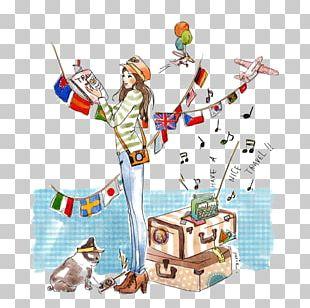 Travel World Map Challenge Illustration PNG
