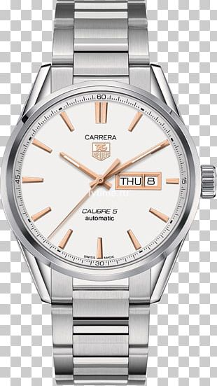eb7d23fc0b2a6 TAG Heuer Carrera Calibre 5 Day-Date Automatic Watch PNG