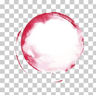Hand Painted Red Circle PNG