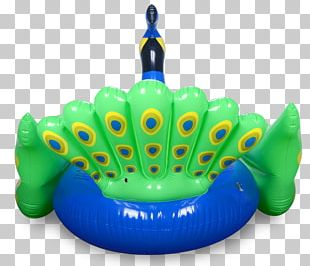 Inflatable Peafowl Swimming Pool Swim Ring PNG