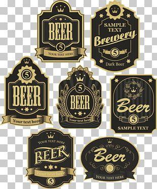 Beer Label Sticker Vintage PNG