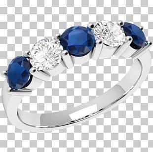 Sapphire Eternity Ring Diamond Brilliant PNG