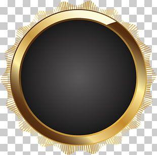 Frame Text Circle Brown PNG