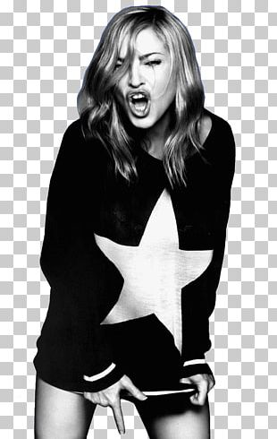 Madonna Give Me All Your Luvin' MDNA Black And White PNG