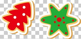 Fortune Cookie Gingerbread Christmas Cookie PNG