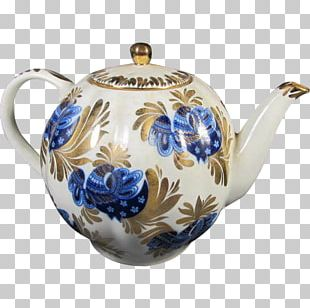 Teapot Blue And White Pottery Ceramic Cobalt Blue PNG