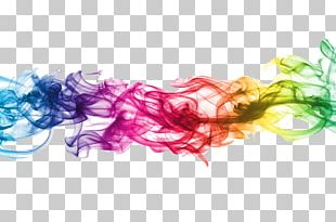 Colored Smoke Electronic Cigarette PNG