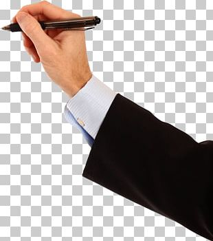 Hand Holding Pen Writing On Wall PNG
