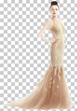 Wedding Dress Bride Gown Formal Wear PNG