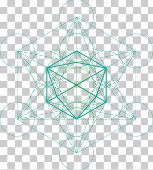 Metatron Sacred Geometry Cube PNG