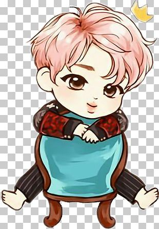BTS Chibi K-pop Drawing Fan Art PNG
