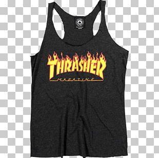 T-shirt Hoodie Thrasher Skateboarding PNG